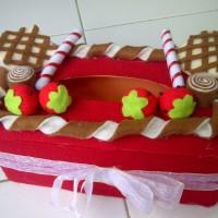 Kotak Tissue Flanel Handmade - Waffle Cake