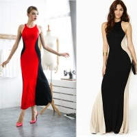 harga Sx6sb9i Maxi Dress Pantai - Long Dress Panjang # Dress Merah & Hitam Tokopedia.com