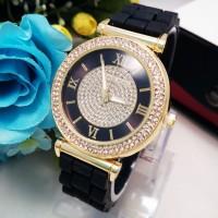 Jam Tangan Wanita / Cewe MK Golden Hitam