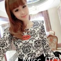 harga Retro Blouse Import Pakaian Atasan Baju Wanita Murah Cotton Textured Tokopedia.com