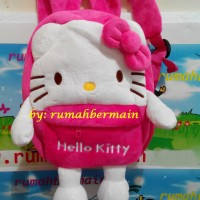 harga Tas Ransel Hello Kitty (tangan & Kaki) 18cm - Backpack Anak - Boneka Tokopedia.com