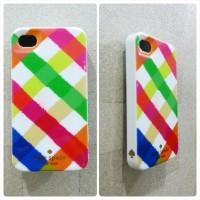 Kate Spade Case (casing Katespade) for iPhone 4 / 4S (Rainbow Strip)