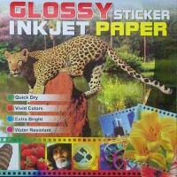 Stiker Glossy  A4 XYZ
