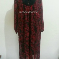 Pakaian wanita muslimah dress bahan chiffon murah