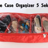 Jual Tas Rak Sepatu / Sendal Resleting (SCO 5 Sekat - Shoe Case Organizer) Murah