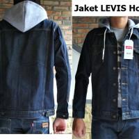 JAKET JEANS HOODIE BIRU DONGKER / JAKET LEVIS ARIEL BLUE BLACK