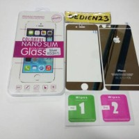 Tempered Glass Warna Silver for iPhone 6