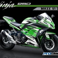 Decal Modifikasi Ninja 250 FI Motif MAXX V1- PROSTIKER