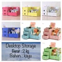 desktop storage UKURAN BESAR 36 x 21 x 18 meja rias laci kosmetik unik