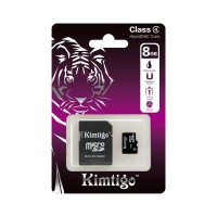 Kimtigo KTT-M4 8GB Micro SD + SD Adapter Class 4