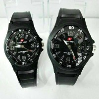 Jam Tangan Swiss Army Rubber Couple ( Water Proof )