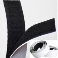 1 Rolls Strong Self Adhesive Velcro Hook Loop Tape Fastener 1m Black