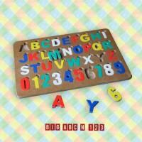 Mainan Edukatif / Edukasi Anak - Puzzle Balok Kayu - Alphabet Huruf Be
