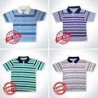 Kaos Anak Kerah dan Oblong Salur, Seri Model,Motif Dan Ukuran
