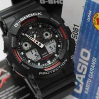 G-Shock GA100-1A4 Black Red