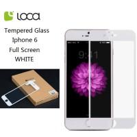 Jual Iphone 6 Full Screen LOCA Tempered Glass Screen Protector WHITE Murah