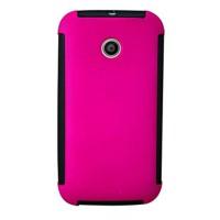 Max Shield Tinted Side Bumper Design Case For Motorola Moto E - Pink