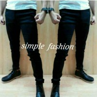 Celana Jeans Fred Perry Skinny Full Black
