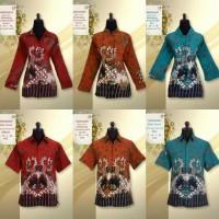sarimbit batik/batik couple/blouse/hem/batik jogja/kemeja