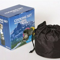 DS-301 ISI 4SET NESTING ALAT MASAK CAMPING OUTDOOR