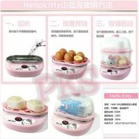 Perebus Telur Dan Penghangat Makanan Hello Kitty (Egg Boiler + Steamer)