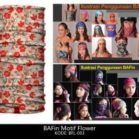 harga BAFin Motif Bunga BFL-003 Murah BUF BAF Masker Bandana Multifungsi Tokopedia.com