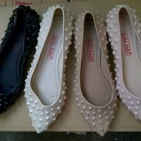 Sepatu Jelly Flat Shoes Studed Bara2