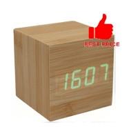 LED Digital Wood Clock - JK-808 - Brown