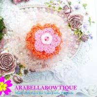 harga Bandana Bayi Baby Headband Bando Bayi Flower Knit PEACH SOFT 6 Tokopedia.com