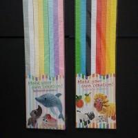 Kertas warna bergelombang kokoru (color corrugated paper)