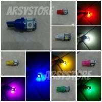 Lampu LED Jagung T10 Senja Sein Rem Kabin Speedo Plat Mobil Motor
