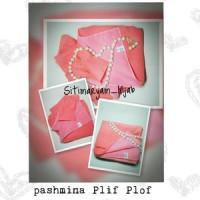 Kerudung Siti Maryam Pashmina Plif Plof Pink
