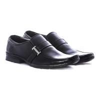 Sepatu kerjal bahan kulit warna hitam gareu-g 0154