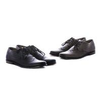 Sepatu pantofel bahan kulit warna hitam & coklat g