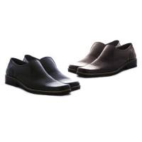 Sepatu kerja laki-laki bahan kulit warna hitam & b