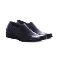 Sepatu kantor pria bahan kulit warna hitam gareu -