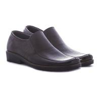 Sepatu formal pria bahan kulit warna dark brown ga