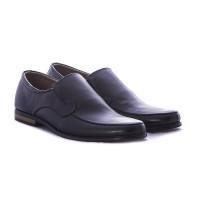 Sepatu pantofel pria bahan kulit warna hitam gareu