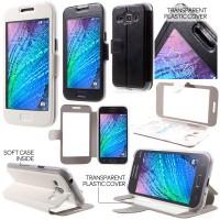 harga Samsung Galaxy J1 - Full Touch Transparent Screen Leather Case Tokopedia.com