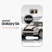 White Mini Cooper  Samsung Galaxy S6 Custom Hard Case