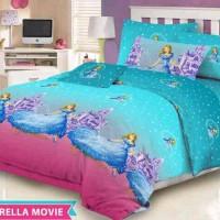 Sprei katun motif Cinderella Movie Queen size
