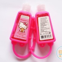 POCKET BAC HAND GEL GLOW IN THE DARK HELLO KITTY HAND SANITIZER KITTY