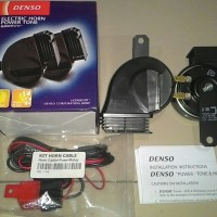 Jual klakson Denso New Model Waterproof. New & Genuine BONUS relay set, kabel dan petunjuk pemasangan Murah