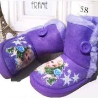 harga Elsa Frozen Purple Boots Sepatu Anak Import Branded Boot Pakaian Baju Tokopedia.com