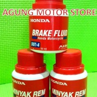 Minyak Rem AHM Honda / Brake Fluid Honda DOT-4 (50ml)