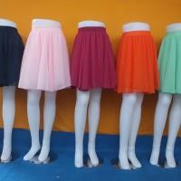 Rok sifon pendek - mini sifon skirt