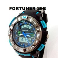 Jam Tangan Fortuner 20A-BCDE dual time water resist original sport