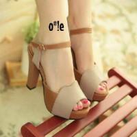 harga High Heels Cream Brown Sepatu Jinjit Hak Tinggi Krem Coklat Wanita Tokopedia.com