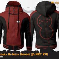 Uchiha Madara Hi-Neck Jacket Hoodie (Jaket Anime Naruto)