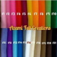 Bahan kerajinan/aksesoris : kain flanel polos (45x50cm)